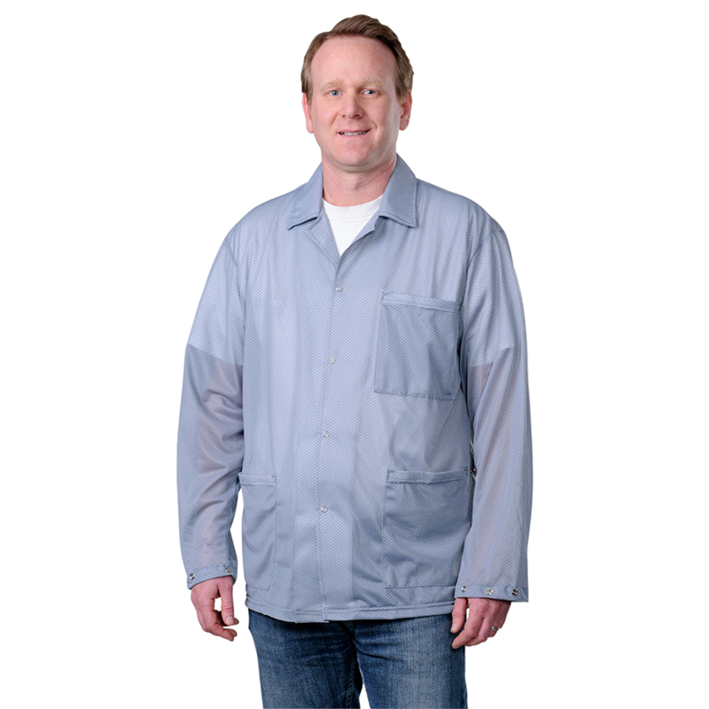73892-SMOCK, STATSHIELD, JACKET, SNAPS, GREY, MEDIUM