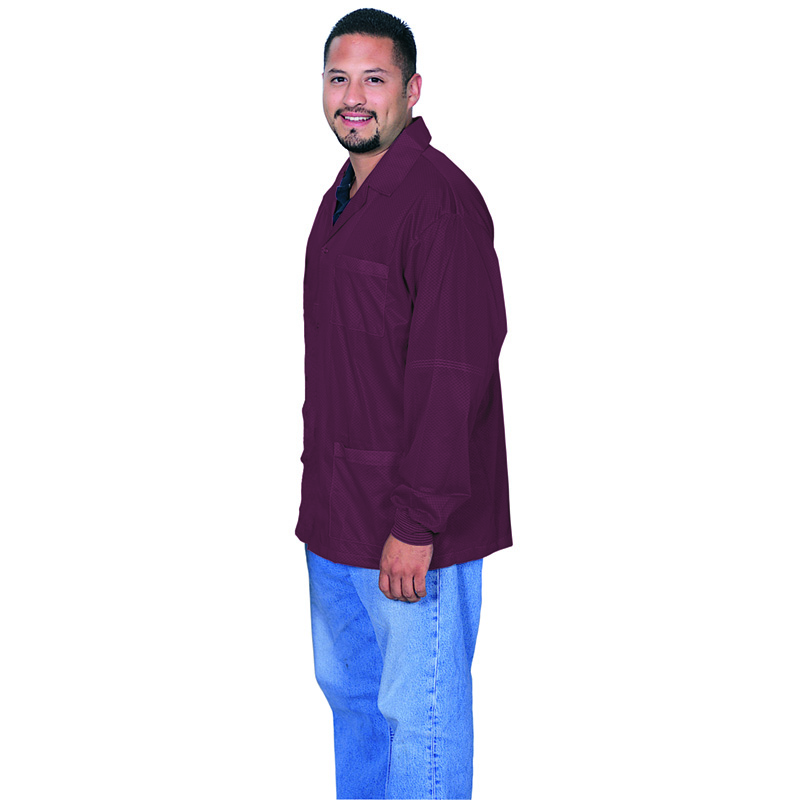 73902-SMOCK, STATSHIELD, JACKET, CUFFS, BURGUNDY, MEDIUM
