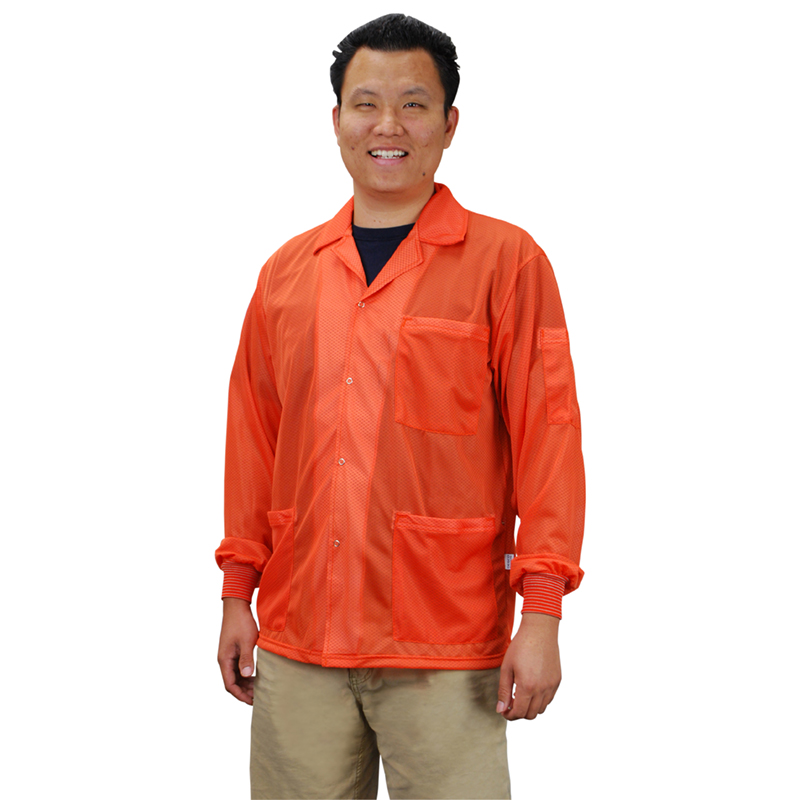 73912-SMOCK, STATSHIELD, JACKET, KNITTED CUFFS, ORANGE, MEDIUM