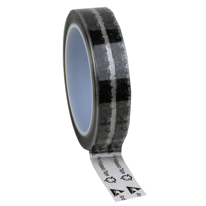 79211-TAPE, WESCORP, CLEAR, ESD W/ SYMBOLS, 1INx72YDS, 3IN CORE