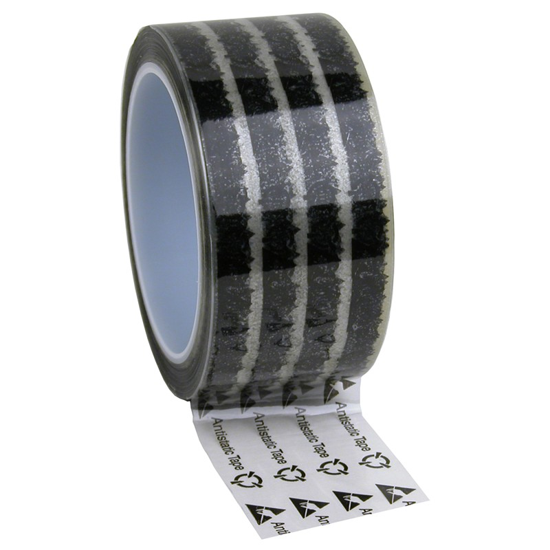 79212-TAPE, WESCORP, CLEAR, ESD W/ SYMBOLS, 2INx72YDS, 3IN CORE