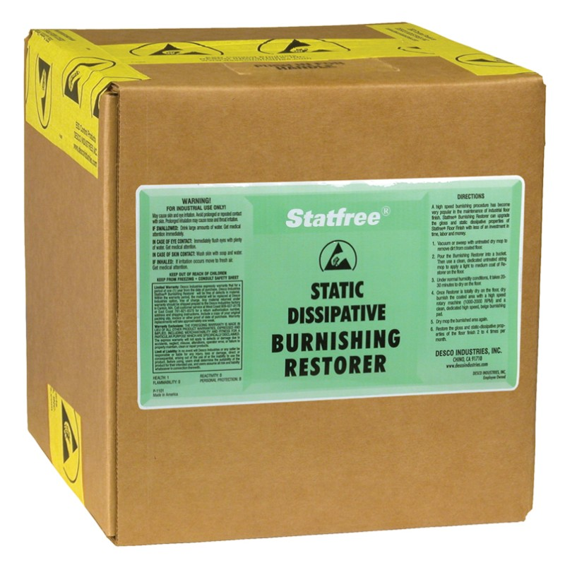 81061-RESTORER, BURNISHING, STATFREE 2.5 GAL BOX