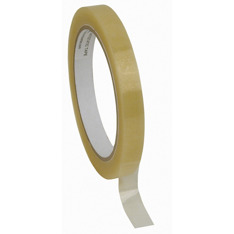 81223-TAPE, WESCORP, CLEAR, ESD, 1/2IN x 72YDS, 3IN PAPER CORE