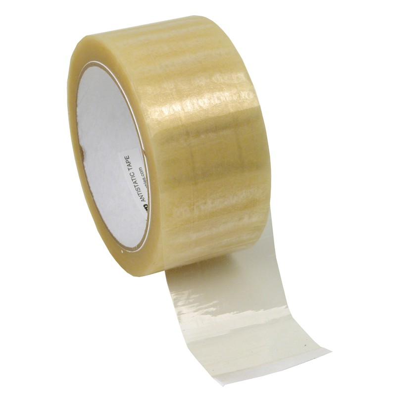 81226-TAPE, WESCORP, CLEAR, ESD, 2IN x 72YDS, 3IN PAPER CORE