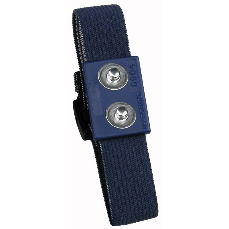 95182-WRISTBAND, ADJUSTABLE ELASTIC, DARK BLUE, DUAL WIRE, 4MM