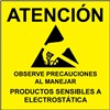 LABEL, ATTENTION, RS-471, SPANISH, 4''x4'', ROLL OF 25
