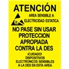 POSTER, AREA WARNING, SPANISH 17'' x 22'', PACK OF 5