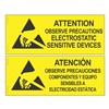 SIGN, ATTENTION, RS-471, ENGLISH-SPANISH, 4'' x 10''