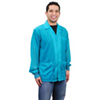73852-SMOCK, STATSHIELD, JACKET, KNITTED CUFFS, TEAL, MEDIUM