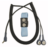 DUAL WRIST STRAP SET, 6FT COIL, 1/8IN SNAP
