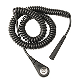 CORD,COILED,BLK,1.8M,SHRDED, 4MMSKT,1X1MEG